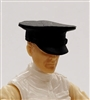 "Headgear: Officer Cap ""Dress Hat"" BLACK Version - 1:18 Scale Modular MTF Accessory for 3-3/4"" Action Figures"