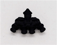 "Headgear: QUAD NVG Night Vision Goggles BLACK Version - 1:18 Scale Modular MTF Accessory for 3-3/4"" Action Figures"