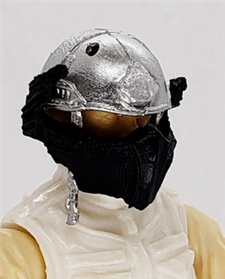 "Headgear: Armor Face Shield for Helmet BLACK Version - 1:18 Scale Modular MTF Accessory for 3-3/4"" Action Figures"