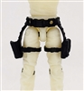 "Belt with Drop Down Leg Holster: BLACK Version - 1:18 Scale Modular MTF Accessory for 3-3/4"" Action Figures"