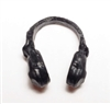 "Headgear: Radio Headset Headphones BLACK Version - 1:18 Scale Modular MTF Accessory for 3-3/4"" Action Figures"