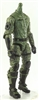 "MTF Male Trooper Body WITHOUT Head GREEN with Black ""Field-Ops"" Version BASIC - 1:18 Scale Marauder Task Force Action Figure"