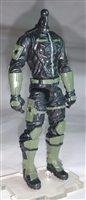 "MTF Male Trooper Body WITHOUT Head BLACK with GREEN ""Field-Ops"" Version BASIC - 1:18 Scale Marauder Task Force Action Figure"