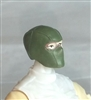 "Male Head: Balaclava Mask GREEN Version - 1:18 Scale MTF Accessory for 3-3/4"" Action Figures"