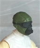 "Male Head: Mask with Goggles & Breather GREEN & Black Version - 1:18 Scale MTF Accessory for 3-3/4"" Action Figures"