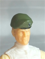"Headgear: Beret GREEN & Black Version - 1:18 Scale Modular MTF Accessory for 3-3/4"" Action Figures"