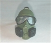 "Headgear: Gasmask GREEN Version - 1:18 Scale Modular MTF Accessory for 3-3/4"" Action Figures"