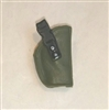 "Pistol Holster: Small  Right Handed GREEN & Black Version - 1:18 Scale Modular MTF Accessory for 3-3/4"" Action Figures"