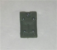 "Armor Panel: Large Size GREEN Version - 1:18 Scale Modular MTF Accessory for 3-3/4"" Action Figures"