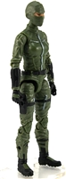 "MTF Female Valkyries with Balaclava Head GREEN with BLACK ""Field-Ops"" Version BASIC - 1:18 Scale Marauder Task Force Action Figure"