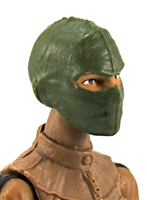 "Female Head: Balaclava Mask GREEN Version - 1:18 Scale MTF Valkyries Accessory for 3-3/4"" Action Figures"
