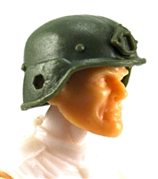 "Headgear: LWH Combat Helmet GREEN Version - 1:18 Scale Modular MTF Accessory for 3-3/4"" Action Figures"