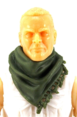 "Headgear: Large Neck Scarf ""Shemagh"" GREEN Version - 1:18 Scale Modular MTF Accessory for 3-3/4"" Action Figures"