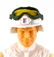 "Headgear: Large Goggles GREEN Version with YELLOW Tint - 1:18 Scale Modular MTF Accessory for 3-3/4"" Action Figures"