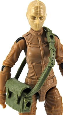 "Satchel Case with Strap: GREEN Version - 1:18 Scale Modular MTF Accessory for 3-3/4"" Action Figures"