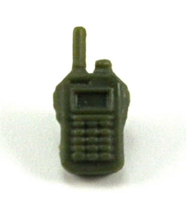 Radio Walkie Talkie: GREEN Version - 1:18 Scale MTF Accessory for 3 3/4 Inch Action Figures