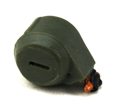 Steady-Cam Gun: Ammo Drum GREEN Version - 1:18 Scale Weapon Accessory for 3 3/4 Inch Action Figures