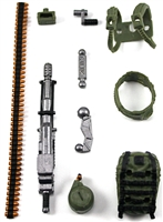 Steady-Cam Gun Gun-Metal DELUXE Set: GREEN & BLACK Version - 1:18 Scale Weapon Set for 3 3/4 Inch Action Figures