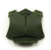 "Armor Chest Plate: GREEN Version - 1:18 Scale Modular MTF Accessory for 3-3/4"" Action Figures"