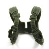 "Male Vest: Shoulder Rig GREEN Version - 1:18 Scale Modular MTF Accessory for 3-3/4"" Action Figures"