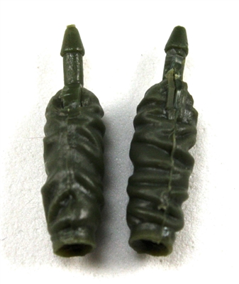 Female Forearms: GREEN Cloth Forearms (NO Armor) - Right AND Left (Pair) - 1:18 Scale MTF Vakyries Accessory for 3-3/4