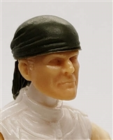 "Headgear: ""Bandana"" Head Cover GREEN Version - 1:18 Scale Modular MTF Accessory for 3-3/4"" Action Figures"