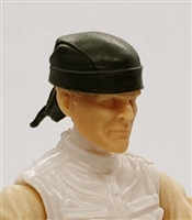 "Headgear: ""Do-Rag"" Head Cover GREEN Version - 1:18 Scale Modular MTF Accessory for 3-3/4"" Action Figures"