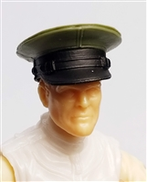 "Headgear: Officer Cap ""Dress Hat"" GREEN Version - 1:18 Scale Modular MTF Accessory for 3-3/4"" Action Figures"