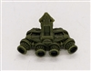 "Headgear: QUAD NVG Night Vision Goggles GREEN Version - 1:18 Scale Modular MTF Accessory for 3-3/4"" Action Figures"