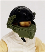 "Headgear: Armor Face Shield for Helmet GREEN Version - 1:18 Scale Modular MTF Accessory for 3-3/4"" Action Figures"