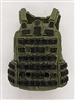 "Male Vest: Utility Type GREEN & Black Version - 1:18 Scale Modular MTF Accessory for 3-3/4"" Action Figures"