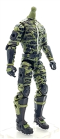 "MTF Male Trooper Body WITHOUT Head GREEN with BLACK CAMO ""Jungle-Ops"" Version BASIC - 1:18 Scale Marauder Task Force Action Figure"