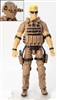 "DELUXE MTF Male ""Contract-Ops"" - BROWN SHIRT, BROWN PANTS & BROWN GEAR (Light Skin Version) - 1:18 Scale Marauder Task Force Action Figure"