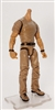"MTF Male Body WITHOUT Head - BROWN SHIRT & BROWN PANTS  ""Contract-Ops"" TAN Skin Version - 1:18 Scale Marauder Task Force Action Figure"