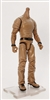 "MTF Male Body WITHOUT Head - BROWN SHIRT & BROWN PANTS  ""Contract-Ops"" DARK Skin Version - 1:18 Scale Marauder Task Force Action Figure"