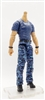 "MTF Male Body WITHOUT Head - BLUE T-SHIRT & BLUE CAMO PANTS  ""Contract-Ops"" LIGHT Skin Version - 1:18 Scale Marauder Task Force Action Figure"