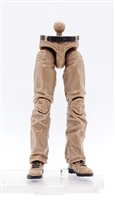 "Male Legs: BROWN Contract Ops Pant Legs - Right AND Left WITH WAIST - 1:18 Scale MTF Accessory for 3-3/4"" Action Figures"