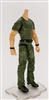 "MTF Male Body WITHOUT Head - GREEN SHIRT & GREEN PANTS  ""Contract-Ops"" Light Skin Version - 1:18 Scale Marauder Task Force Action Figure"