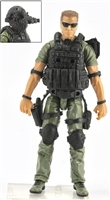 "DELUXE MTF Male ""Contract-Ops"" - GREEN SHIRT, GREEN PANTS & BLACK GEAR (Light Skin Version) - 1:18 Scale Marauder Task Force Action Figure"