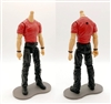 "PRE-ORDER: MTF Male Body WITHOUT Head - RED T-SHIRT & BLACK PANTS  ""Contract-Ops"" LIGHT Skin Version - 1:18 Scale Marauder Task Force Action Figure"
