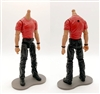 "MTF Male Body WITHOUT Head - RED T-SHIRT & BLACK PANTS  ""Contract-Ops"" TAN Skin Version - 1:18 Scale Marauder Task Force Action Figure"
