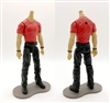 "PRE-ORDER: MTF Male Body WITHOUT Head - RED T-SHIRT & BLACK PANTS  ""Contract-Ops"" LIGHT-TAN Skin Version - 1:18 Scale Marauder Task Force Action Figure"