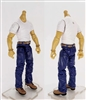 "PRE-ORDER: MTF Male Body WITHOUT Head - WHITE SHIRT & BLUE PANTS  ""Contract-Ops"" LIGHT TAN Skin Version - 1:18 Scale Marauder Task Force Action Figure"