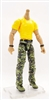 "MTF Male Body WITHOUT Head - YELLOW SHIRT & GREEN CAMO PANTS  ""Contract-Ops"" LIGHT Skin Version - 1:18 Scale Marauder Task Force Action Figure"