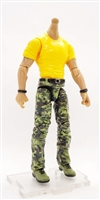 "PRE-ORDER: MTF Male Body WITHOUT Head - YELLOW SHIRT & GREEN CAMO PANTS  ""Contract-Ops"" LIGHT Skin Version - 1:18 Scale Marauder Task Force Action Figure"