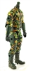 "MTF Male Trooper Body WITHOUT Head DARK GREEN CAMO ""Spec-Ops"" Cloth Legs (No Leg Armor)  - 1:18 Scale Marauder Task Force Action Figure"