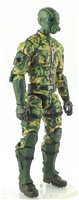 "MTF Male Trooper with Masked Goggles & Breather Head DARK GREEN CAMO ""Spec-Ops"" Version BASIC - 1:18 Scale Marauder Task Force Action Figure"