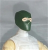 "Male Head: Balaclava Mask DARK GREEN Version - 1:18 Scale MTF Accessory for 3-3/4"" Action Figures"