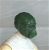"Male Head: Mask with Goggles & Breather DARK GREEN Version - 1:18 Scale MTF Accessory for 3-3/4"" Action Figures"