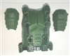 "Male Vest: Armor Type DARK GREEN Version - 1:18 Scale Modular MTF Accessory for 3-3/4"" Action Figures"